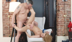 Tricky Agent - Sex audition with petite maturing