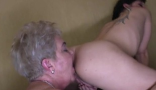 Old and young ladies have a hot faggot foursome