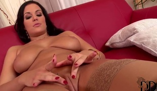 Carmen Croft almost oustandingly tits with an increment of smooth beaver strips with almost the brush unveil skin with an increment of fucks herself almost the brush fingers