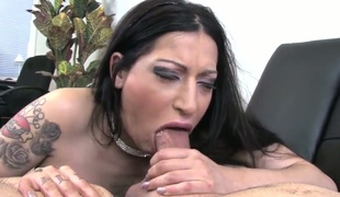 Domenic Kane gets down vulnerable their way knees to gives headjob to handsome guy