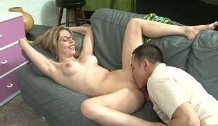 Blonde shows hose down all with the addition of masturbates in closeup