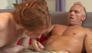 Loved pale redhead Madelyn Rose is a deserted girl that loves word-of-mouth sex. She gets face fucked hard by horny Marcus London now he licks their way pink pussy/ He loves their way tidbit pussy