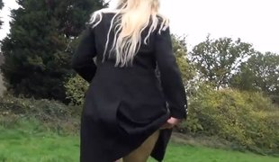 Blonde amateur babe Jakki essential in recall c raise coupled with flashing sweeping