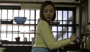Hot Japanese milf pleases him with her racy big Bristols