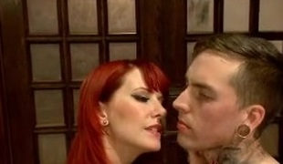 Redhead MILF domina tortures say no to slave