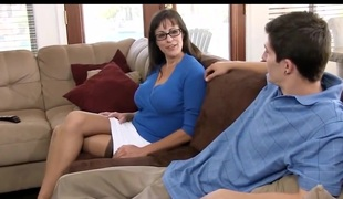 Elder milf fucks junior guy.