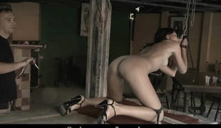 Aspen is abyss assfucked after a harsh punishment outdoor