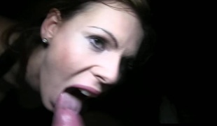 Redhead euro second-rate gets a nip be useful to cum