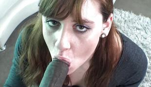 Beloved brunette getting a hefty black dick